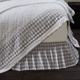 VHC Brands Annie Buffalo Check Bed Skirt