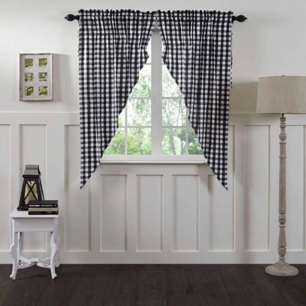 Annie Buffalo Check Lined Prairie Curtain Set of 2