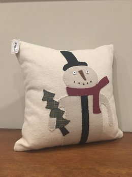 Primitive Snowman Nutmeg Pillow
