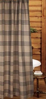 Chesterfield Check Black Shower Curtain
