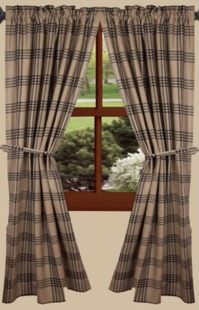Raghu Collection Chesterfield Check Black Curtain Panels