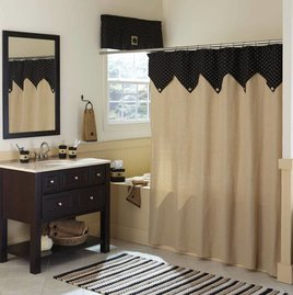 Park Designs Carrington Ticking Shower Curtain