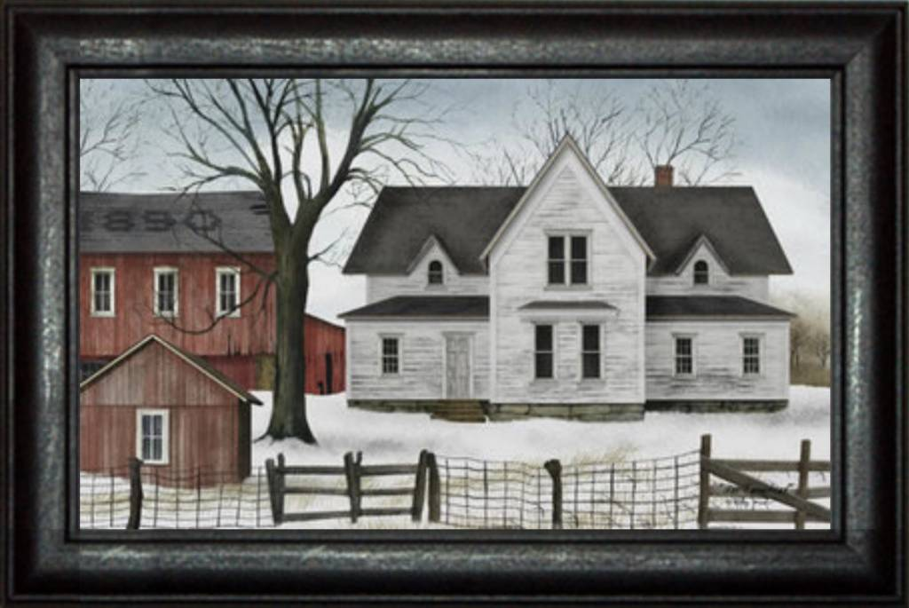 Billy Jacobs 1890 Farmstead Primitive Art by Billy Jacobs