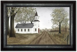 Billy Jacobs Little Country Church House Print by Billy Jacobs