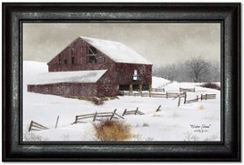 Billy Jacobs Winter Storm Primitive Art by Billy Jacobs