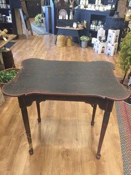 Queen Anne Black Porringer Table