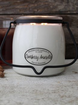 Milkhouse Candles Cranberry Amaretto 16oz Butter Jar