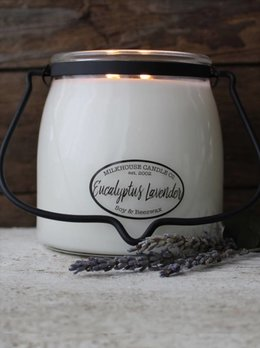 Milkhouse Candles Eucalyptus Lavender 16oz Butter Jar