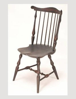 Lawrence Crouse Workshop New England Fan Back Side Chair Shield Seat