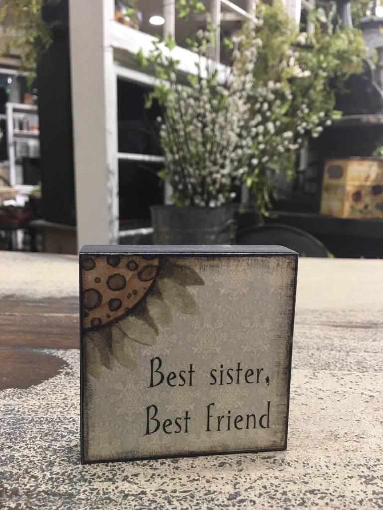 Best Sister Block Sign