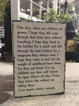One Day When My Children Are Grown Block Sign