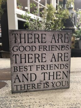 Good Friends Block Sign