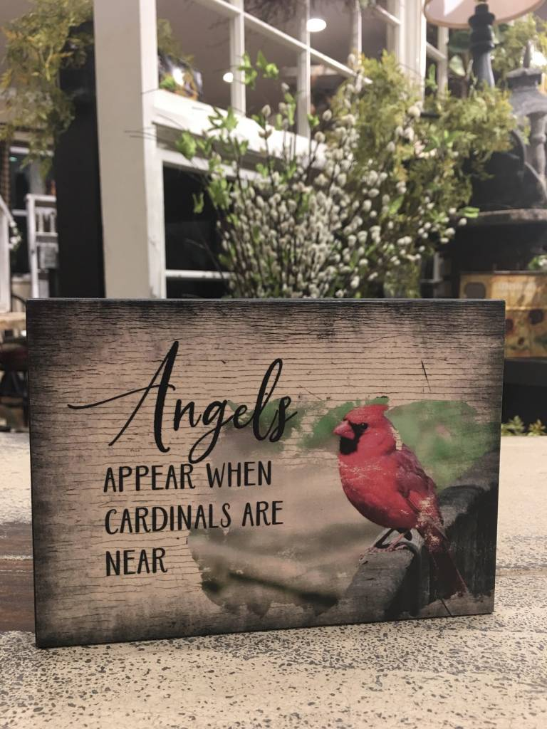 Angels Appear When Cardinals Are Near Block Sign