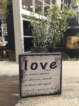 Love- A Noun Block Sign