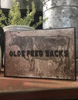 Olde Feed Sacks Block Sign