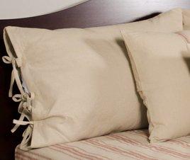 Grain Sack Solid Oat Pillow Sham