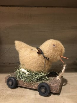 Chic On Cart Pull Toy - Small