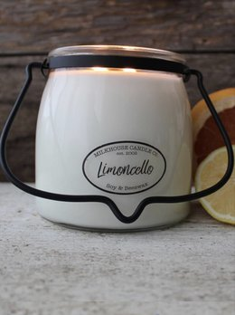 Milkhouse Candles Limoncello 16oz Butter Jar