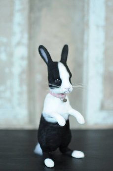 Black & White Standing Rabbit