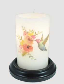 C R Designs Hummingbird Purple Candle Sleeve