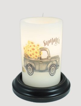 C R Designs Summer Truck Candle Sleeve