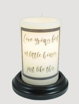 Love Grows Best Candle Sleeve