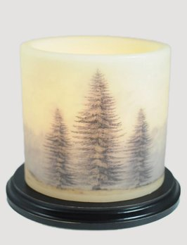 Three Christmas Tree Candle Sleeve - Oval