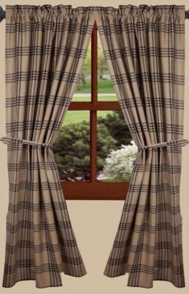 Home Collections By Raghu Chesterfield Check Panels Black