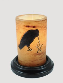 C R Designs Primitive Crow Brown Sugar Candle Sleeve
