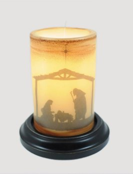 Vintage Nativity Jesus Candle Sleeve