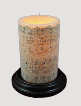 Vintage Song Silent Night Candle Sleeve