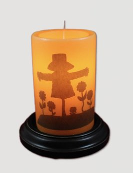 Vintage Scarecrow Candle Sleeve