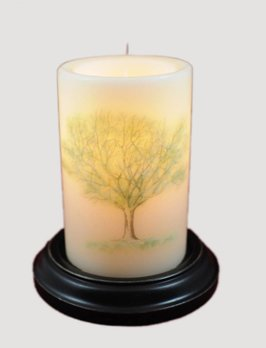 C R Designs Vintage Summer Tree Candle Sleeve