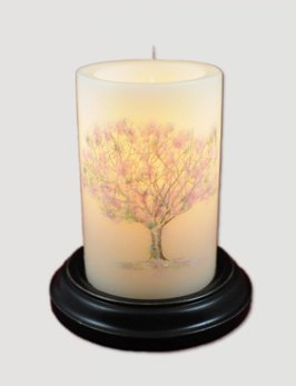 Vintage Spring Tree Candle Sleeve