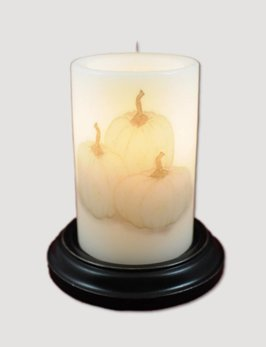 C R Designs Shabby Pumpkins Candle Sleeve