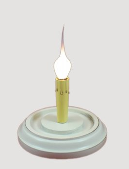 Round Candle Sleeve Base-Country White