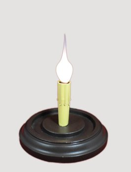 C R Designs Round Candle Sleeve Base - Chocolate