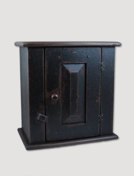 Hanging Black Cupboard with Door