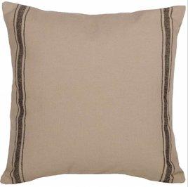 Grain Sack Stripe Pillow - Black