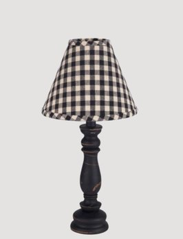 Home Collections By Raghu Worthington Black Wood Lamp
