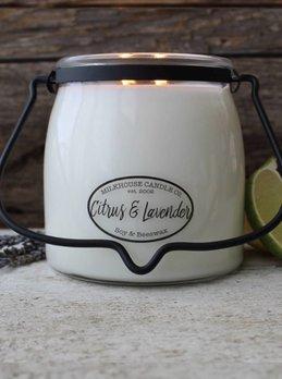 Milkhouse Candles Citrus & Lavender 16oz Milkhouse