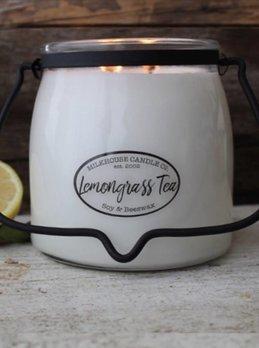 Milkhouse Candles Lemongrass Tea 16oz Butter Jar