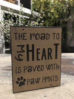 Paw Prints Block Sign