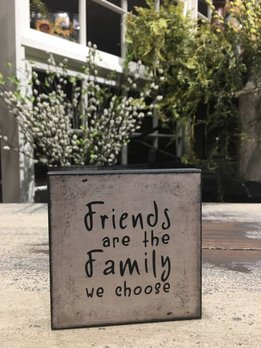 Friends Are Family Block Sign