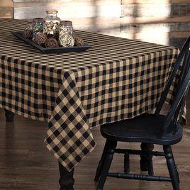 Burlap Black Check Table Cloth