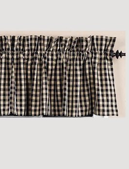 Heritage House Check Black Valance