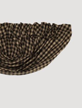 """VHC Brands Black Check Lined Balloon Valance 16x72"""""""