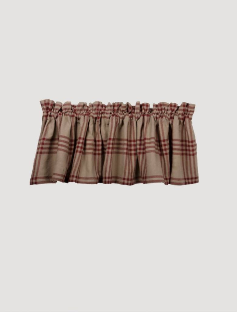 Home Collections By Raghu Chesterfield Check Barn Red Valance