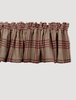 Chesterfield Check Barn Red Valance
