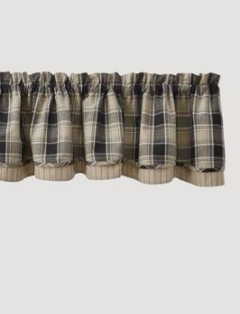 Park Designs Soapstone Lined Layered Valance